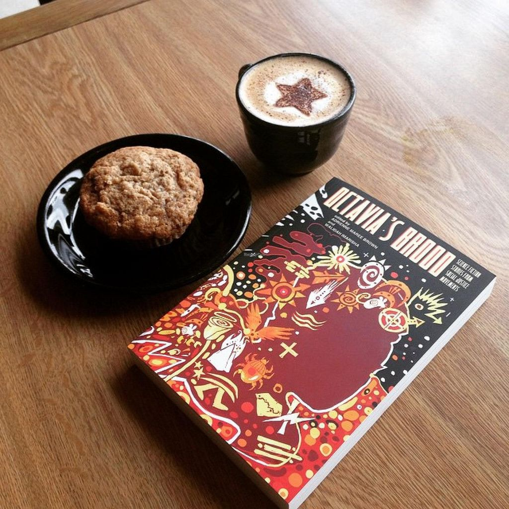 """Photo of Firestorm Books & Coffee  by <a href=""""/members/profile/firestormcafe"""">firestormcafe</a> <br/>Feminist sci-fi and zucchini muffins go great together! <br/> July 25, 2015  - <a href='/contact/abuse/image/16041/110970'>Report</a>"""