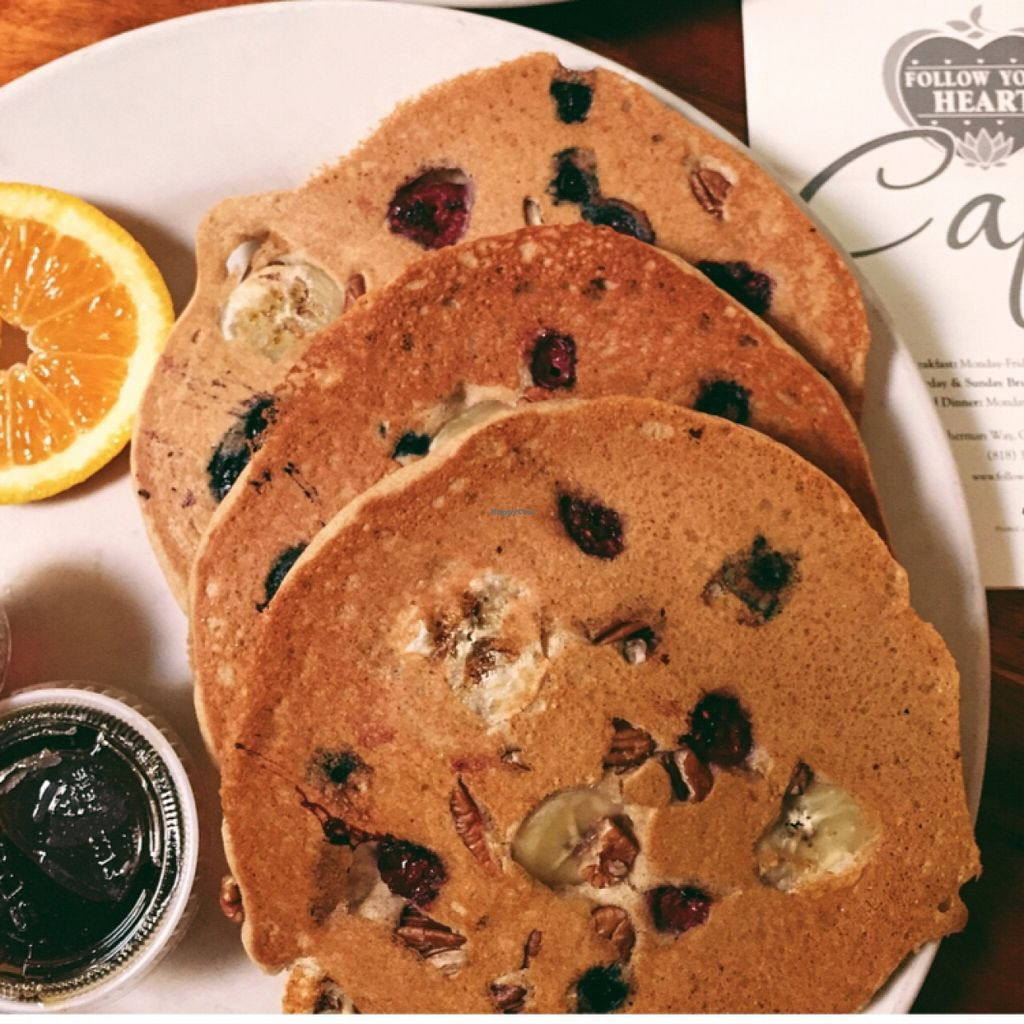 """Photo of Follow Your Heart Restaurant and Market  by <a href=""""/members/profile/Michelleykat"""">Michelleykat</a> <br/>vegan gluten free pancakes :) <br/> October 25, 2015  - <a href='/contact/abuse/image/1609/122689'>Report</a>"""