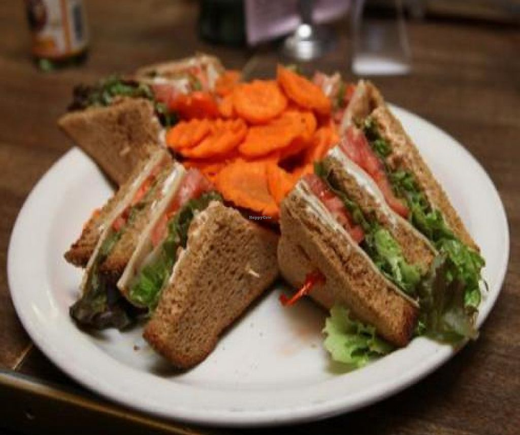 """Photo of Follow Your Heart Restaurant and Market  by <a href=""""/members/profile/quarrygirl"""">quarrygirl</a> <br/>Club Sandwich: The Classic Triple Decker <br/> December 26, 2011  - <a href='/contact/abuse/image/1609/189437'>Report</a>"""