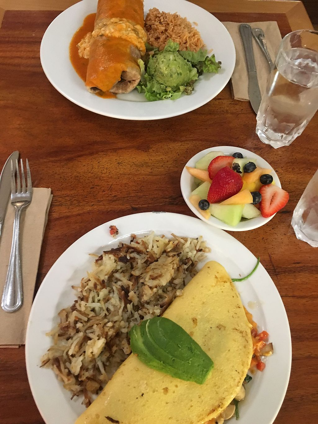 """Photo of Follow Your Heart Restaurant and Market  by <a href=""""/members/profile/vi%27sbunbun"""">vi'sbunbun</a> <br/>Vegan Omelet and burrito with FYH vegan egg <br/> May 8, 2018  - <a href='/contact/abuse/image/1609/397049'>Report</a>"""