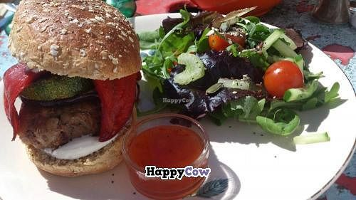 """Photo of REMOVED: Johnny's Cafe  by <a href=""""/members/profile/Vegan%20cupcakes%20uk"""">Vegan cupcakes uk</a> <br/>Bean Burger from Johnny's in Hayle Cornwall. The best vegan buger I have ever had. Highly recomended <br/> September 17, 2013  - <a href='/contact/abuse/image/16102/55075'>Report</a>"""