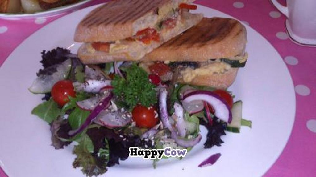 """Photo of REMOVED: Johnny's Cafe  by <a href=""""/members/profile/Vegan%20cupcakes%20uk"""">Vegan cupcakes uk</a> <br/>Vegan Panini at Johnny's cafe in Hayle Cornwall. Wow you need to try it <br/> September 17, 2013  - <a href='/contact/abuse/image/16102/55077'>Report</a>"""