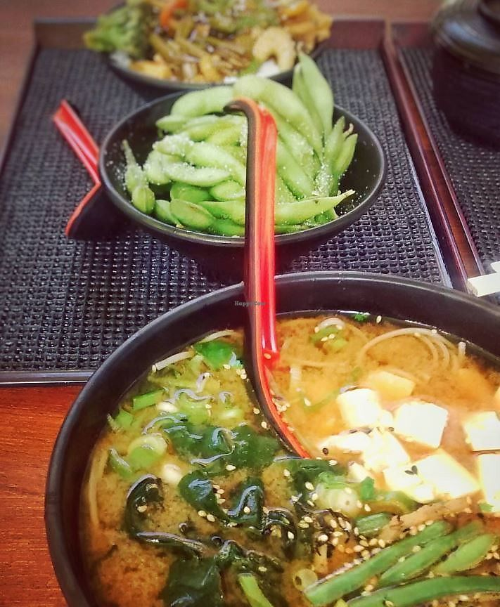 "Photo of Sasou  by <a href=""/members/profile/SophieLichtenstern"">SophieLichtenstern</a> <br/>Noodle soup, edamame <br/> September 8, 2017  - <a href='/contact/abuse/image/16120/302053'>Report</a>"