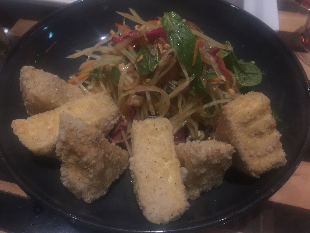 """Photo of Yulli's  by <a href=""""/members/profile/Tiggy"""">Tiggy</a> <br/>Crispy tofu with green papaya, Asian herb and toasted peanut salad <br/> July 10, 2017  - <a href='/contact/abuse/image/16153/278566'>Report</a>"""