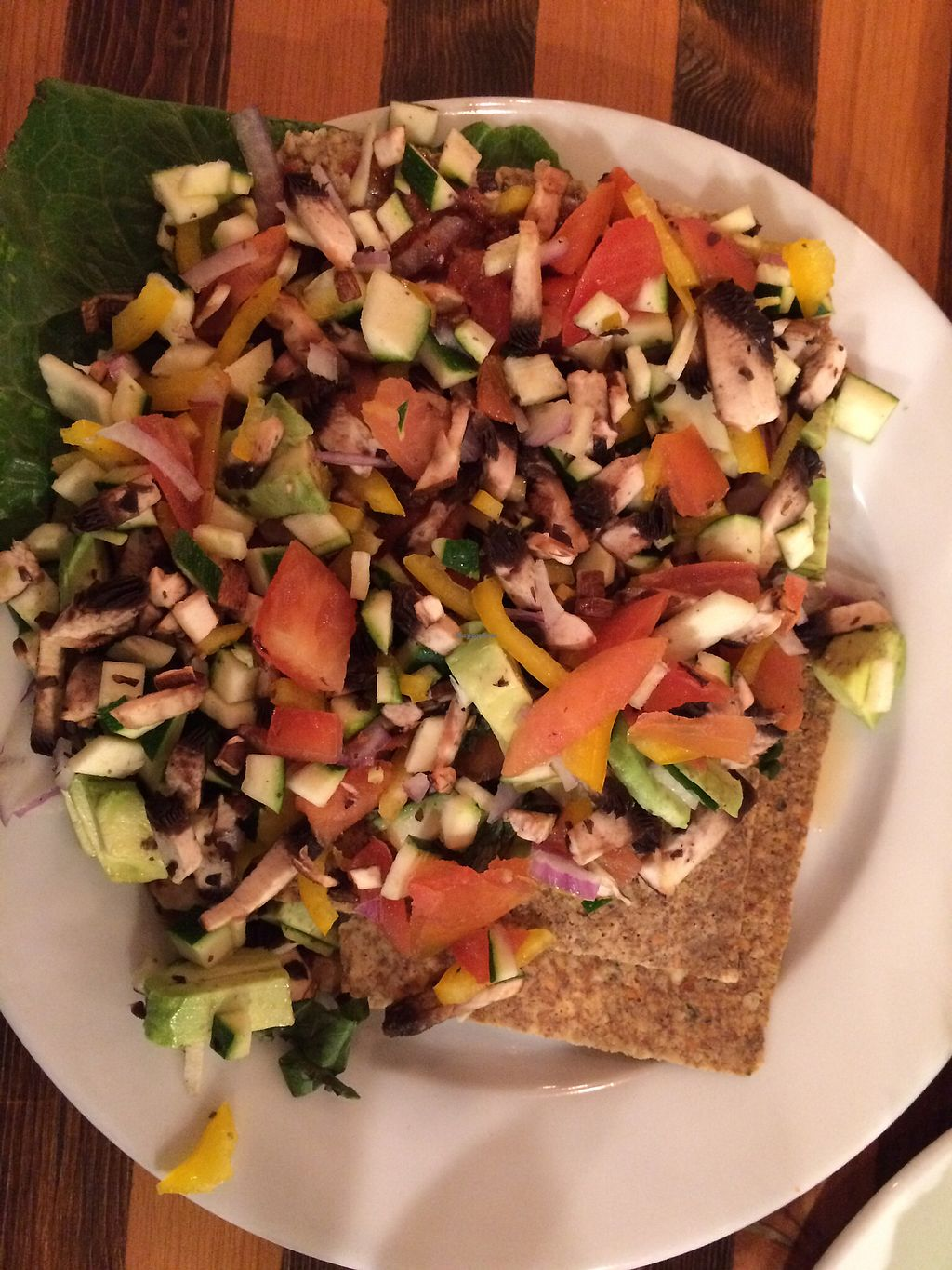 """Photo of Ginger's Garden Cafe  by <a href=""""/members/profile/stefaneRAW"""">stefaneRAW</a> <br/>Raw pizza <br/> September 9, 2017  - <a href='/contact/abuse/image/16225/302734'>Report</a>"""