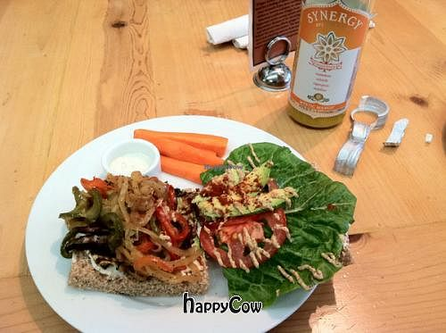 """Photo of Ginger's Garden Cafe  by <a href=""""/members/profile/Meggie%20and%20Ben"""">Meggie and Ben</a> <br/>Grilled veggie sandwich made vegan <br/> October 2, 2012  - <a href='/contact/abuse/image/16225/38638'>Report</a>"""