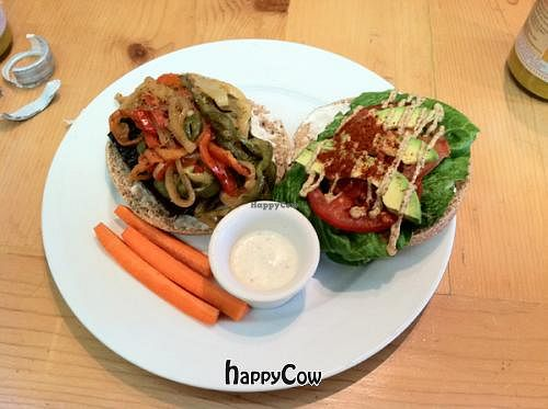 """Photo of Ginger's Garden Cafe  by <a href=""""/members/profile/Meggie%20and%20Ben"""">Meggie and Ben</a> <br/>BBQ burger made vegan <br/> October 2, 2012  - <a href='/contact/abuse/image/16225/38639'>Report</a>"""