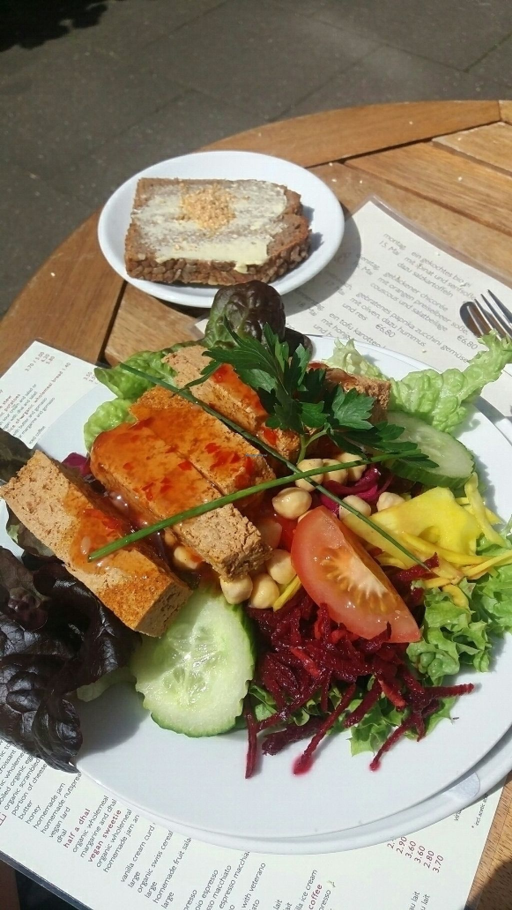 "Photo of Cafe Koppel  by <a href=""/members/profile/DavidWeatherston"">DavidWeatherston</a> <br/>tofu salad, crispy tofu strips with sweet chilli. delicious  <br/> May 18, 2017  - <a href='/contact/abuse/image/16259/259873'>Report</a>"