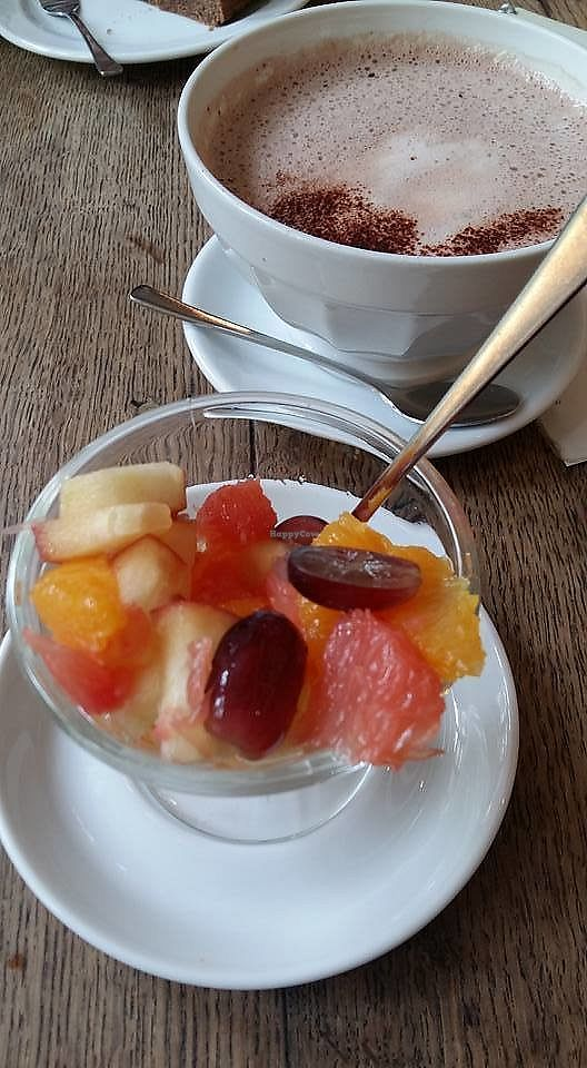 "Photo of Cafe Koppel  by <a href=""/members/profile/ninaframbuesa"">ninaframbuesa</a> <br/>Fruit salad and soy hot chocolate <br/> June 26, 2017  - <a href='/contact/abuse/image/16259/273773'>Report</a>"