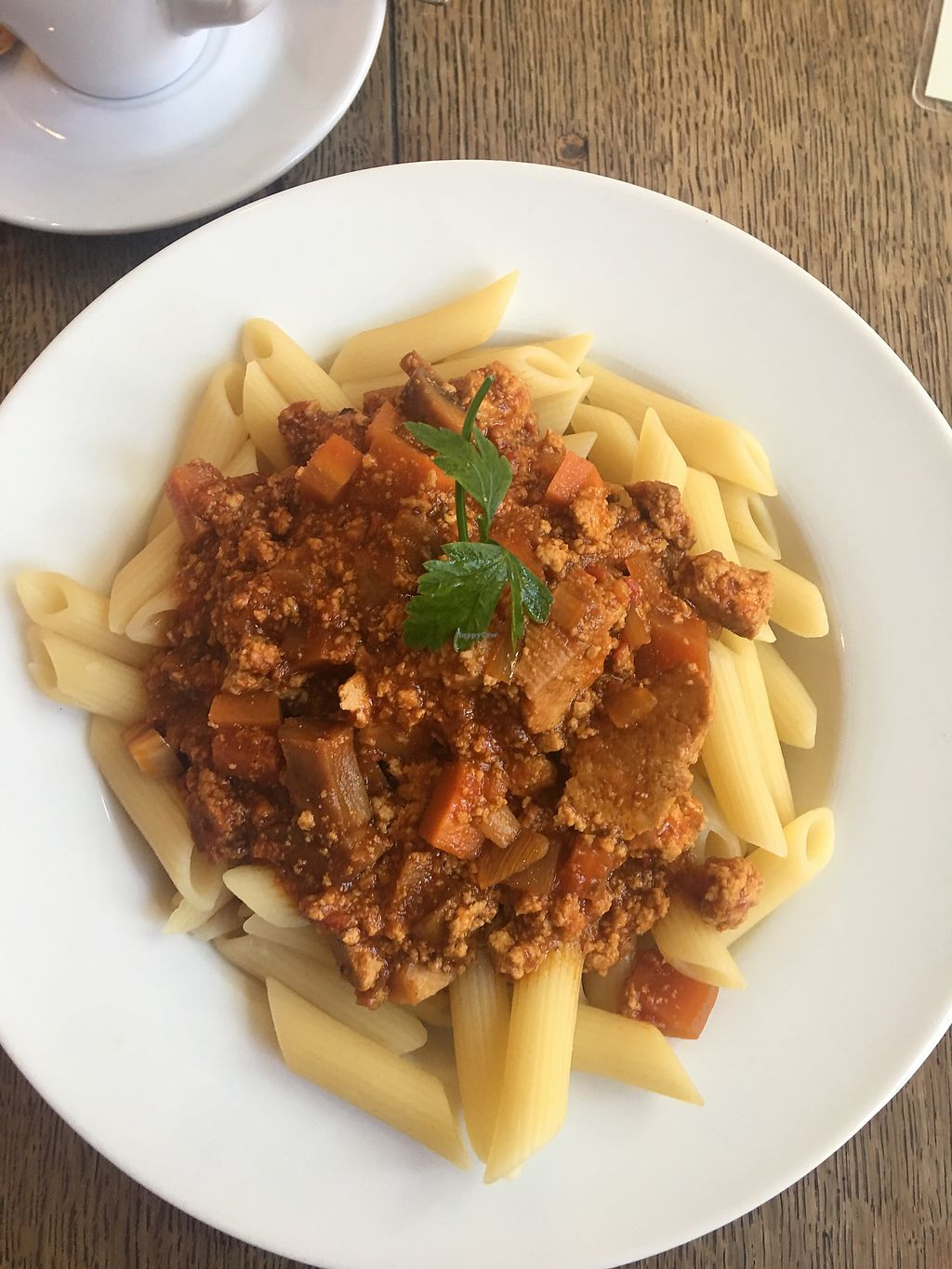 "Photo of Cafe Koppel  by <a href=""/members/profile/edajoir"">edajoir</a> <br/>Tofu bolognese pasta <br/> September 16, 2017  - <a href='/contact/abuse/image/16259/304997'>Report</a>"
