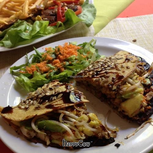 "Photo of Namaste  by <a href=""/members/profile/cuckooworld"">cuckooworld</a> <br/>quesadilla..  super nice vegan option without cheese <br/> January 24, 2013  - <a href='/contact/abuse/image/16363/43354'>Report</a>"