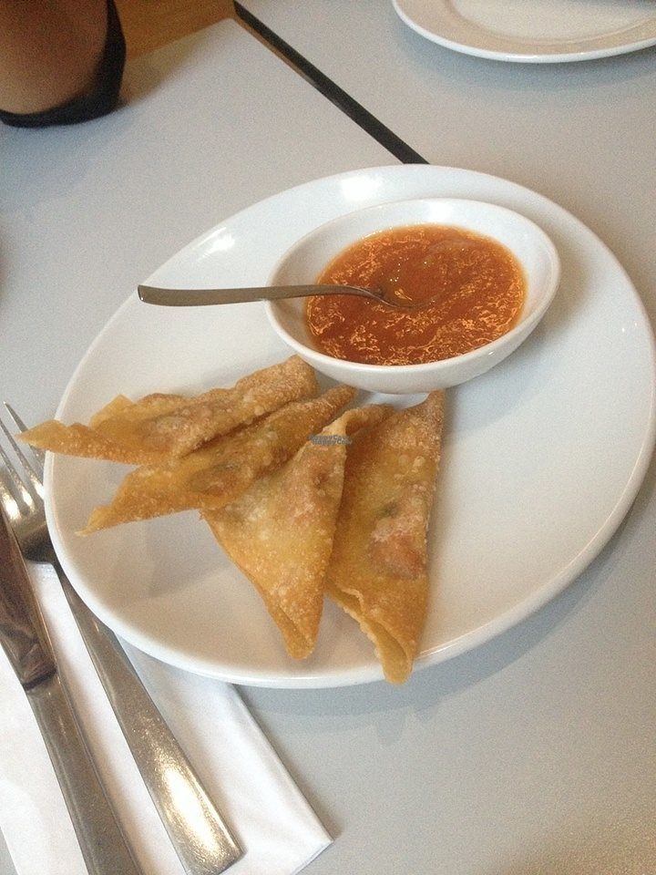 "Photo of Vegefarm  by <a href=""/members/profile/small_trees"">small_trees</a> <br/> Wonton parcels with mango sauce <br/> October 20, 2016  - <a href='/contact/abuse/image/16384/183157'>Report</a>"