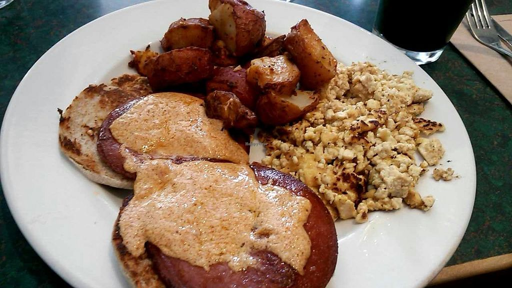 """Photo of Mother's Market and Kitchen - Huntington Beach  by <a href=""""/members/profile/LiilyPadd"""">LiilyPadd</a> <br/>Tofu eggs benedict, wish it was a regular menu item! <br/> April 29, 2015  - <a href='/contact/abuse/image/1638/100683'>Report</a>"""