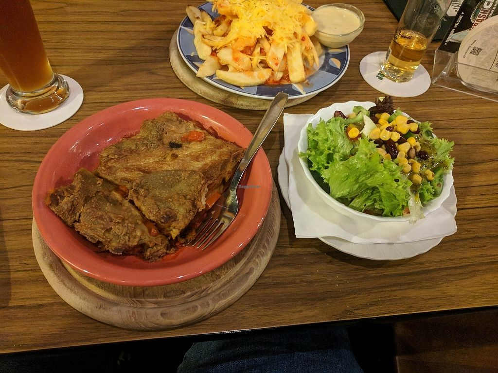 "Photo of Trash Chic  by <a href=""/members/profile/mitcharf"">mitcharf</a> <br/>Pumpkin lasagna, salad, chili-cheese fries <br/> October 23, 2017  - <a href='/contact/abuse/image/16421/318165'>Report</a>"