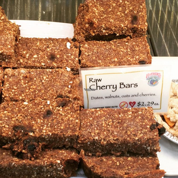 """Photo of Mother's Market and Kitchen - Irvine  by <a href=""""/members/profile/VeganCookieLover"""">VeganCookieLover</a> <br/>raw cherry bars <br/> September 7, 2016  - <a href='/contact/abuse/image/1642/174060'>Report</a>"""
