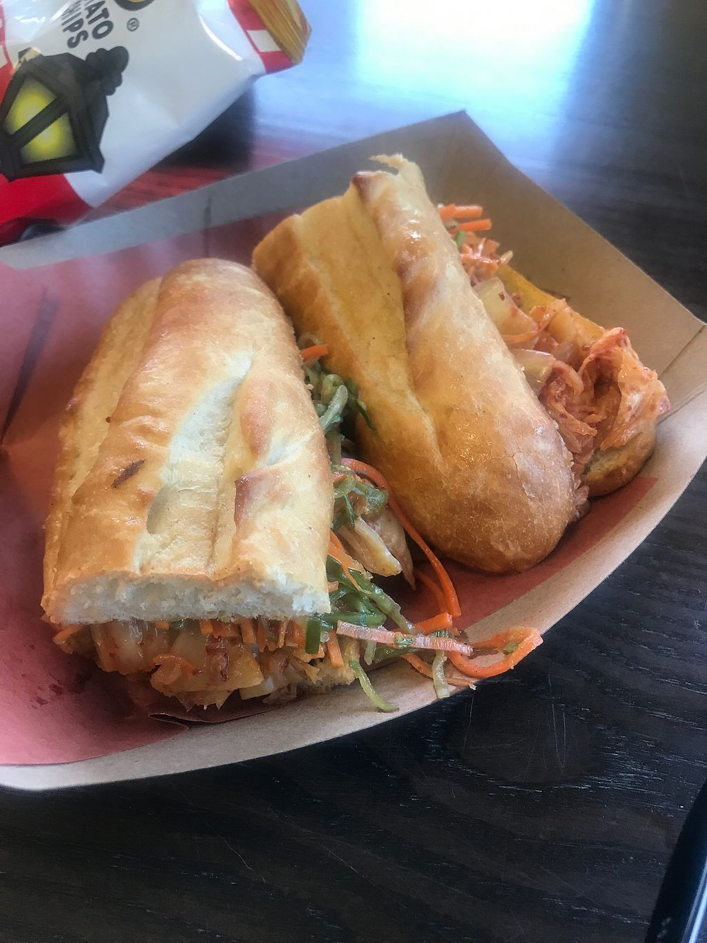 "Photo of HooDoos  by <a href=""/members/profile/Lucipurrr"">Lucipurrr</a> <br/>Tofu Báhn Mì sandwich that comes with your choice of potato chips for $12 <br/> August 10, 2017  - <a href='/contact/abuse/image/16432/291264'>Report</a>"