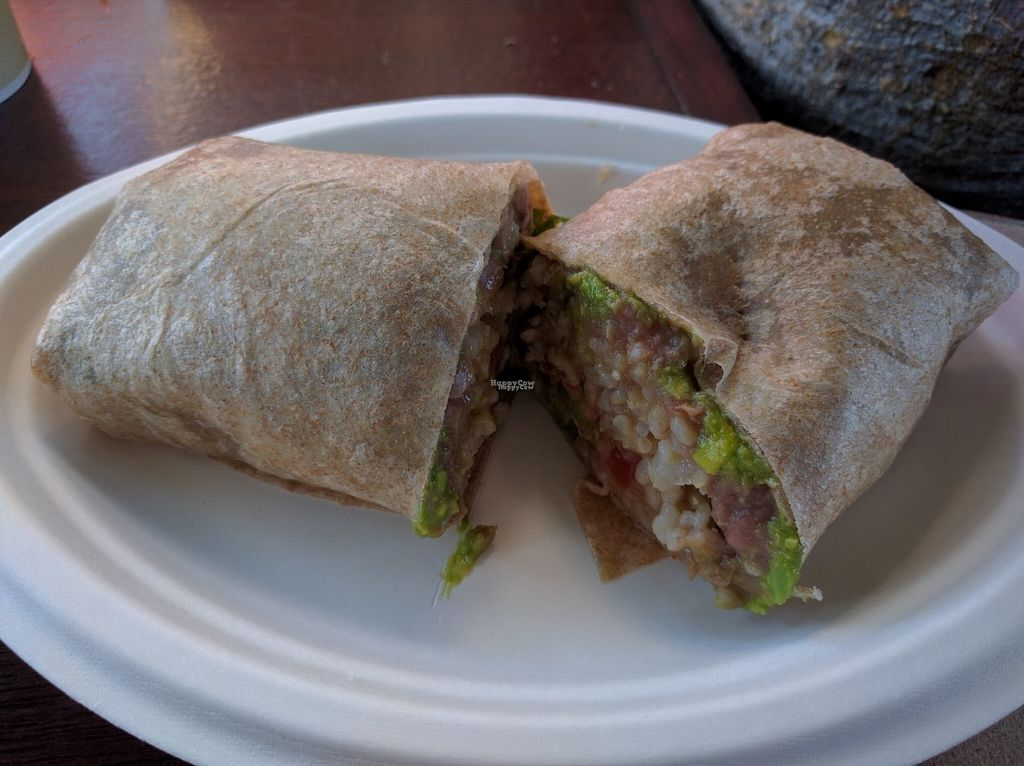 """Photo of The Stand  by <a href=""""/members/profile/Sonja%20and%20Dirk"""">Sonja and Dirk</a> <br/>bean, rice and guacamole burrito <br/> September 12, 2016  - <a href='/contact/abuse/image/1645/175175'>Report</a>"""