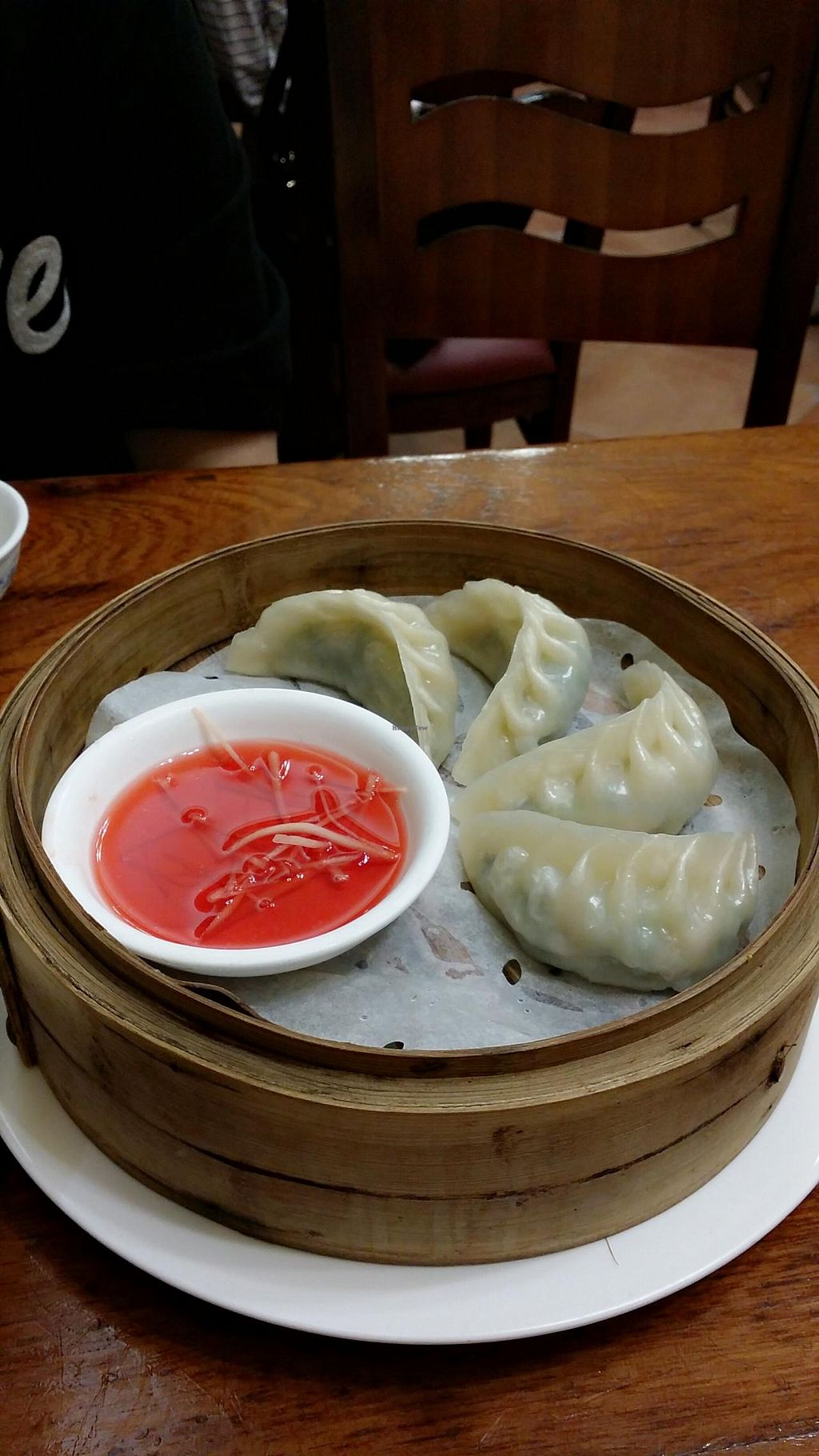 """Photo of Shanghai Yuen Vegetarian  by <a href=""""/members/profile/jungsiah"""">jungsiah</a> <br/>Vegetables and 'pork' dumplings <br/> May 1, 2015  - <a href='/contact/abuse/image/16464/100862'>Report</a>"""