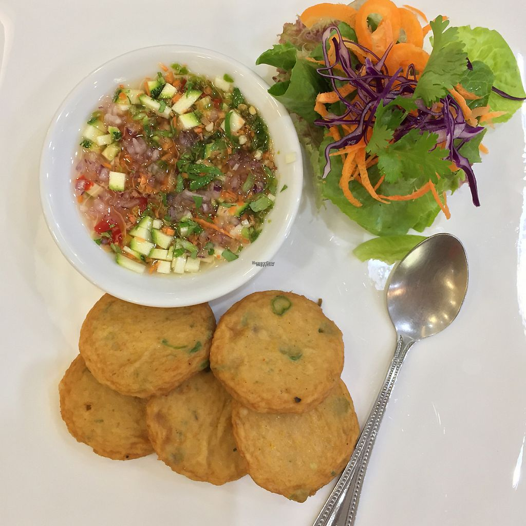 """Photo of CLOSED: Ariya's Organic Place  by <a href=""""/members/profile/MyVeganJoy"""">MyVeganJoy</a> <br/>crab cakes, vegan <br/> December 16, 2016  - <a href='/contact/abuse/image/16517/201547'>Report</a>"""