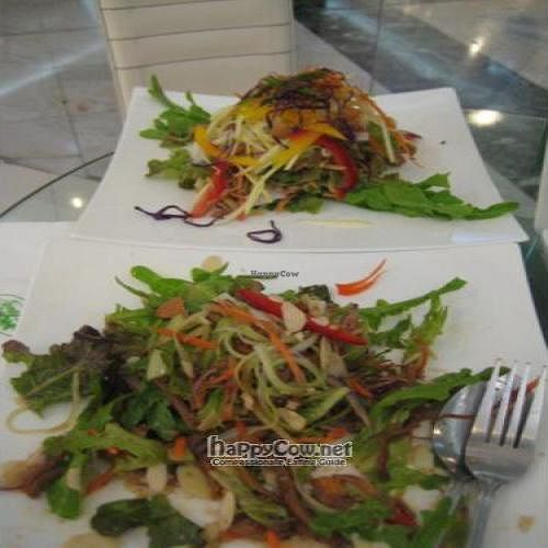 """Photo of CLOSED: Ariya's Organic Place  by <a href=""""/members/profile/beerzuki"""">beerzuki</a> <br/>mushroom stem salad (foreground) and phad thai (rear). so fresh and so clean! <br/> April 3, 2010  - <a href='/contact/abuse/image/16517/4201'>Report</a>"""