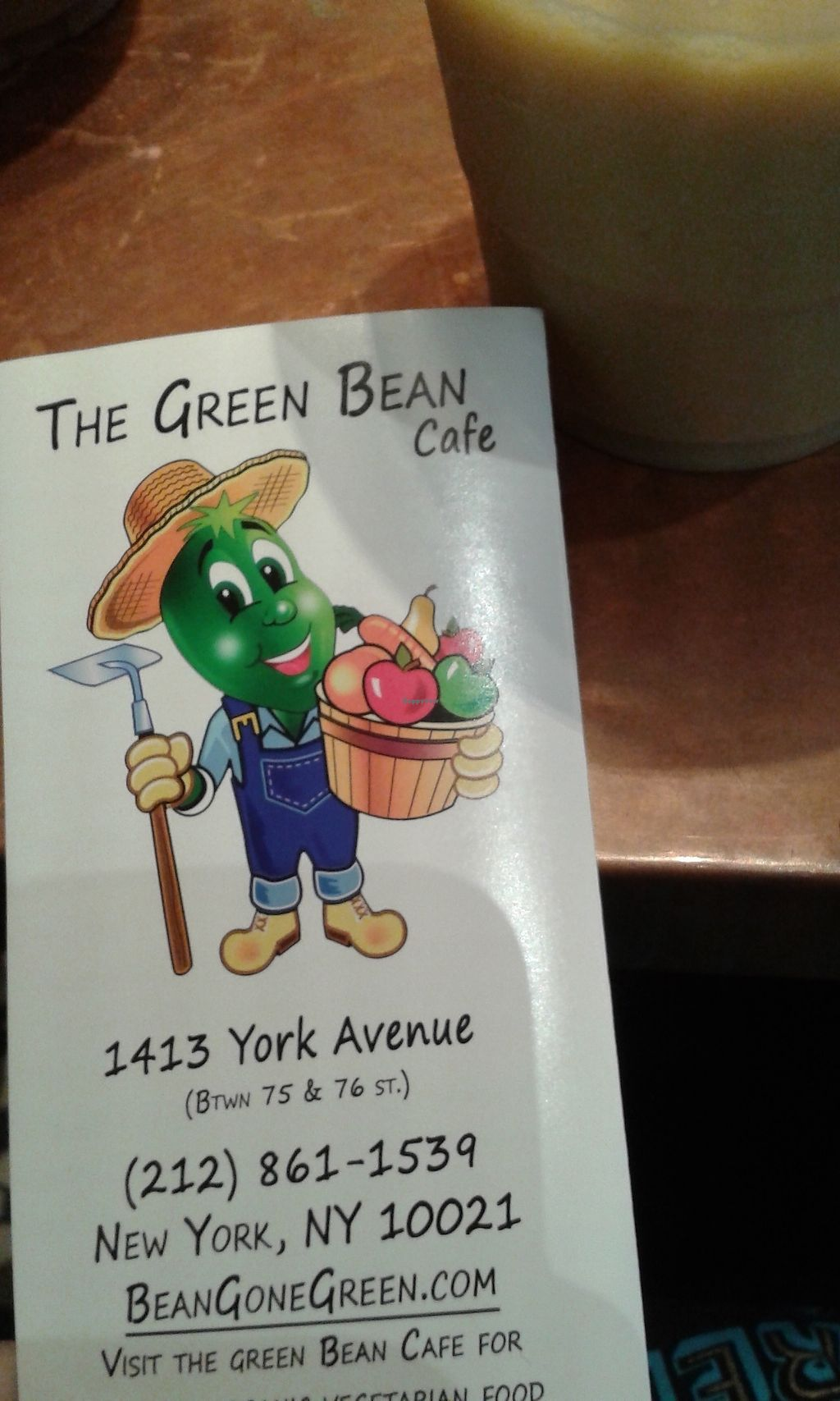 """Photo of The Green Bean Cafe  by <a href=""""/members/profile/Coralin"""">Coralin</a> <br/>Menu <br/> November 9, 2017  - <a href='/contact/abuse/image/16543/323600'>Report</a>"""