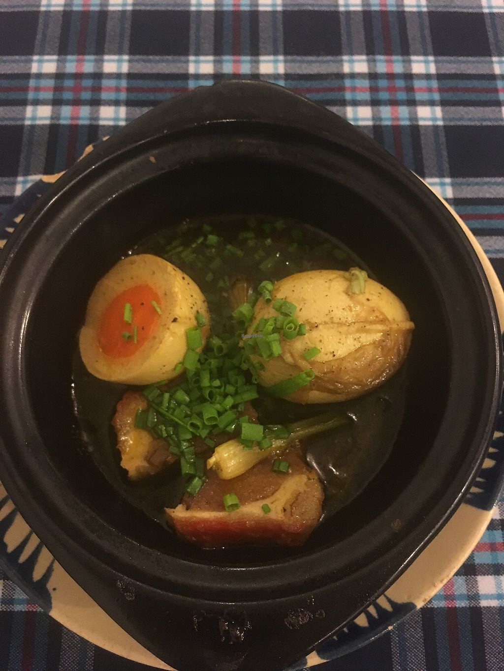 "Photo of Sen Quan Chay  by <a href=""/members/profile/hannahcook04"">hannahcook04</a> <br/>Braised vegan pork with vegan egg 59,000vnd <br/> December 2, 2017  - <a href='/contact/abuse/image/16558/331438'>Report</a>"