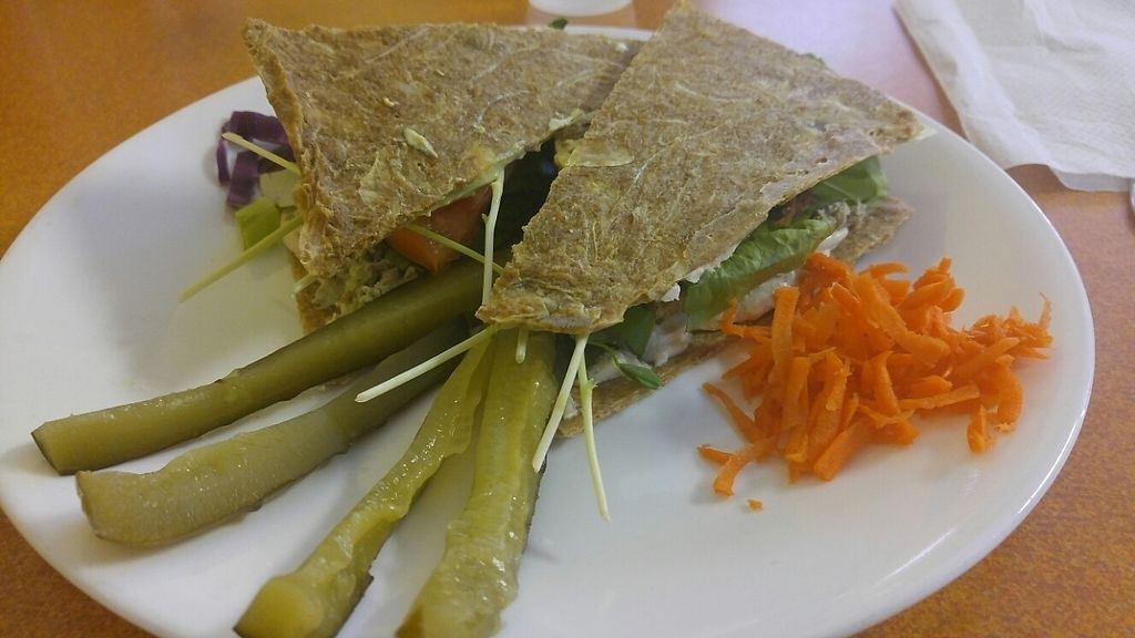 """Photo of Green Wave Cafe  by <a href=""""/members/profile/rklevens"""">rklevens</a> <br/>sunflower seed tuna sandwich <br/> January 5, 2017  - <a href='/contact/abuse/image/16595/208490'>Report</a>"""