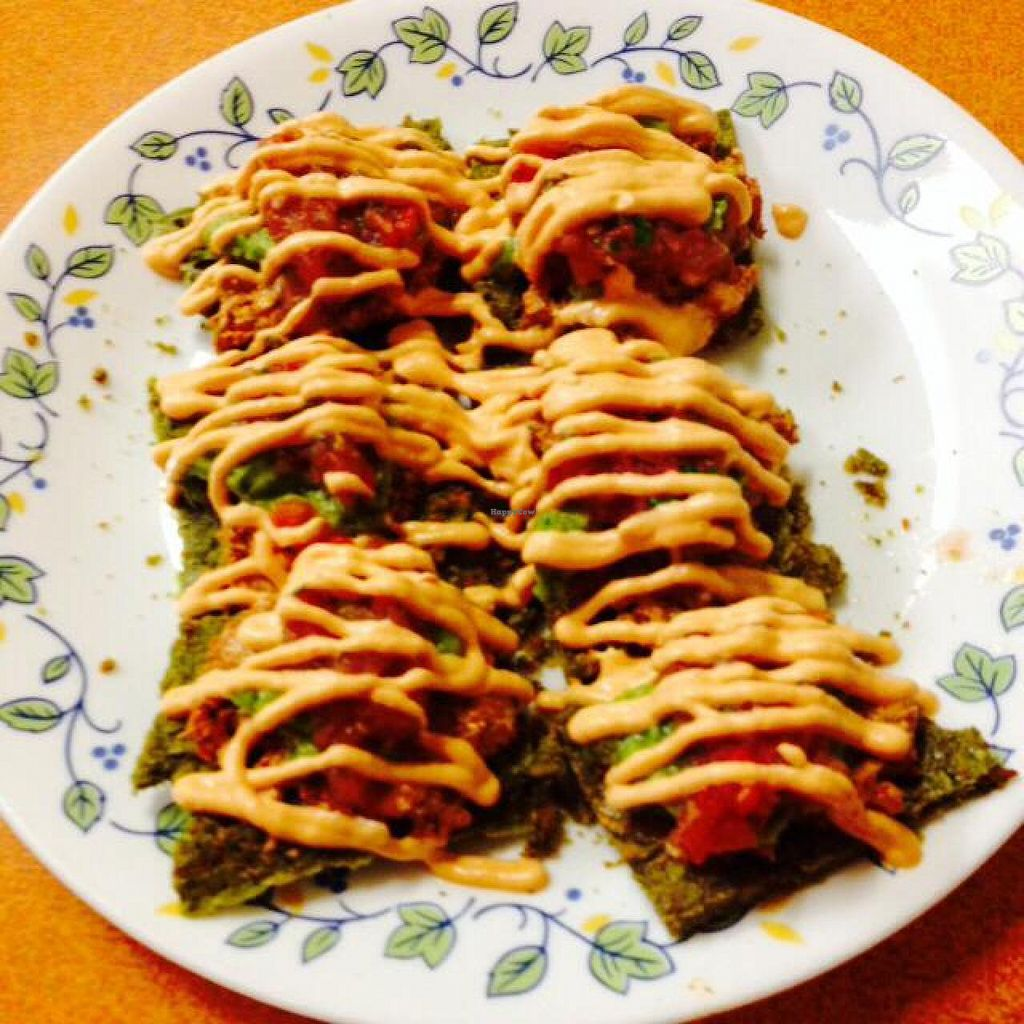 """Photo of Green Wave Cafe  by <a href=""""/members/profile/cinammonlock"""">cinammonlock</a> <br/>Nachos!!!!!! omg they are delicious!!!!! <br/> November 28, 2014  - <a href='/contact/abuse/image/16595/86683'>Report</a>"""