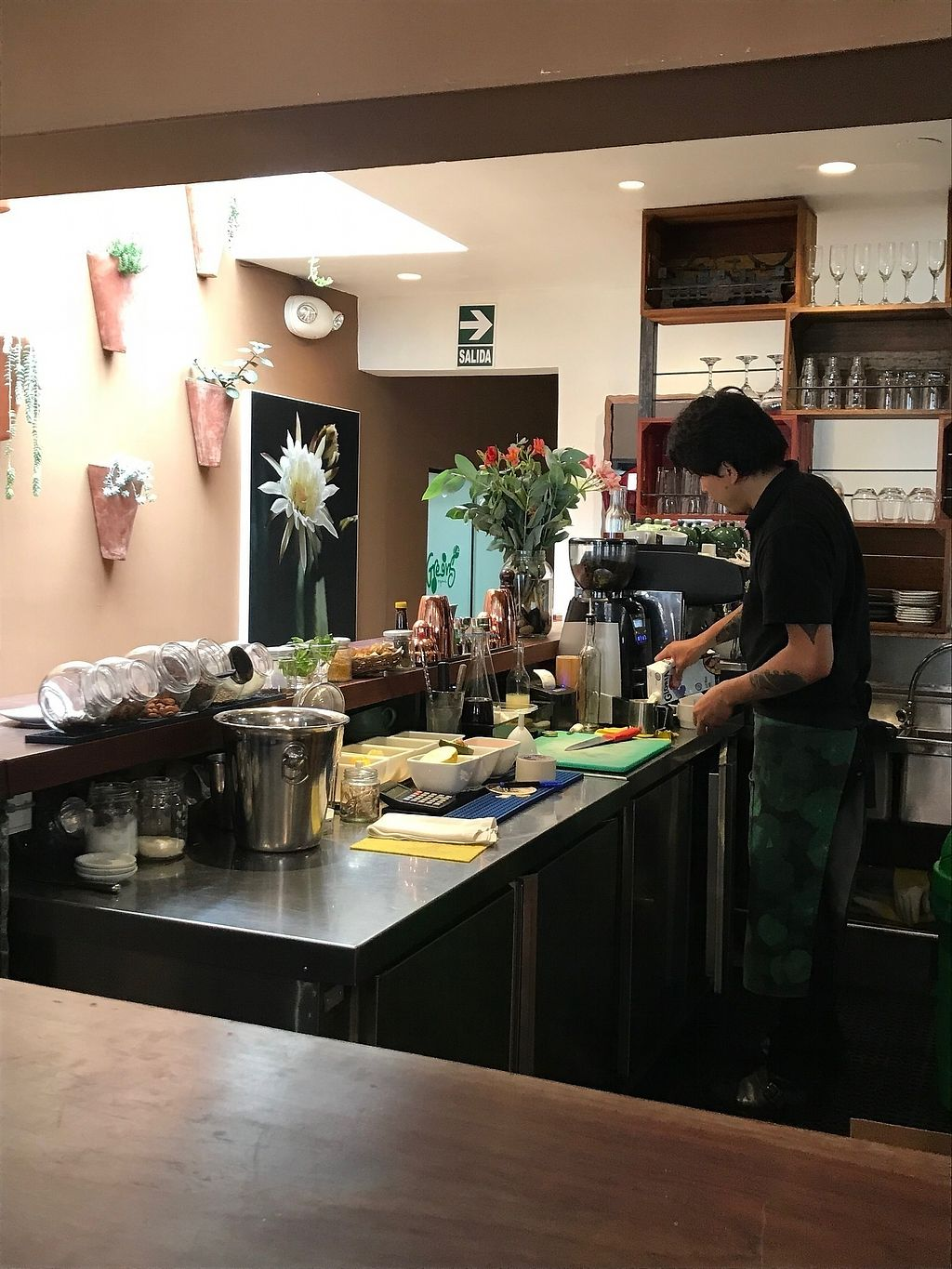 Photo of Greens Organic  by MollyMarshall <br/>The bar area...the barista never stopped moving! <br/> April 10, 2018  - <a href='/contact/abuse/image/16598/383334'>Report</a>