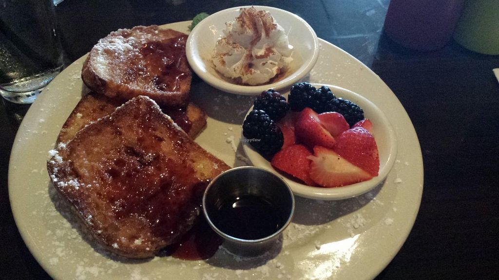 """Photo of Falafel Bistro and Wine Bar  by <a href=""""/members/profile/Michael%20X.%20James"""">Michael X. James</a> <br/>Vegan, Gluten-free french toast <br/> April 10, 2014  - <a href='/contact/abuse/image/16764/67339'>Report</a>"""