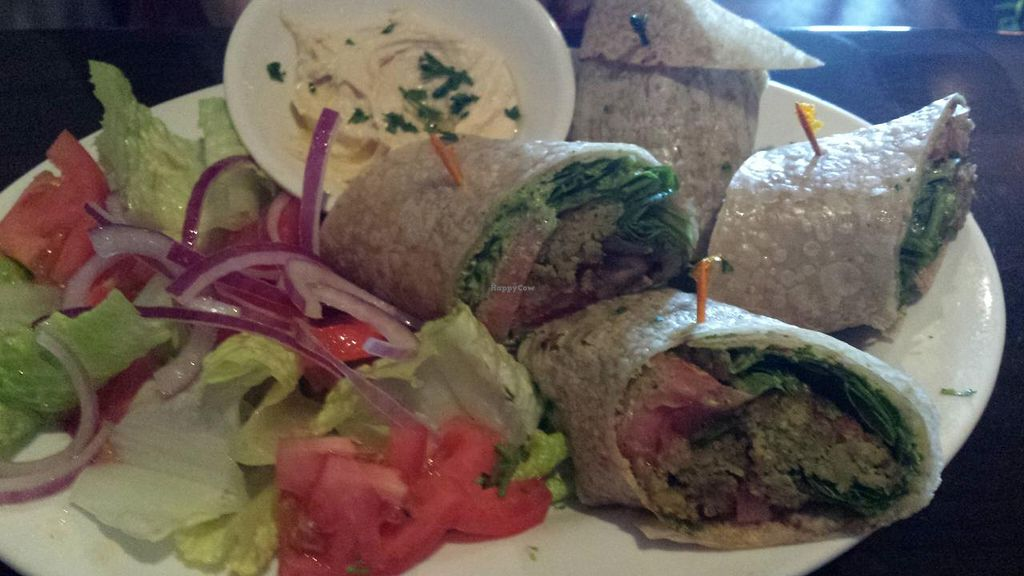 """Photo of Falafel Bistro and Wine Bar  by <a href=""""/members/profile/Michael%20X.%20James"""">Michael X. James</a> <br/>Falafel wrap <br/> April 10, 2014  - <a href='/contact/abuse/image/16764/67341'>Report</a>"""