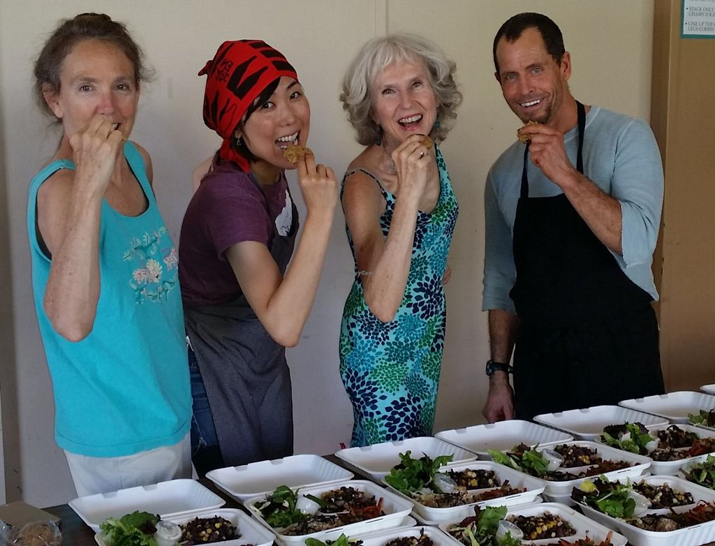 """Photo of Vegan Dinners  by <a href=""""/members/profile/PatriciaJoyBecker"""">PatriciaJoyBecker</a> <br/>Fun preparing the take -out dinners <br/> June 28, 2016  - <a href='/contact/abuse/image/16770/156687'>Report</a>"""