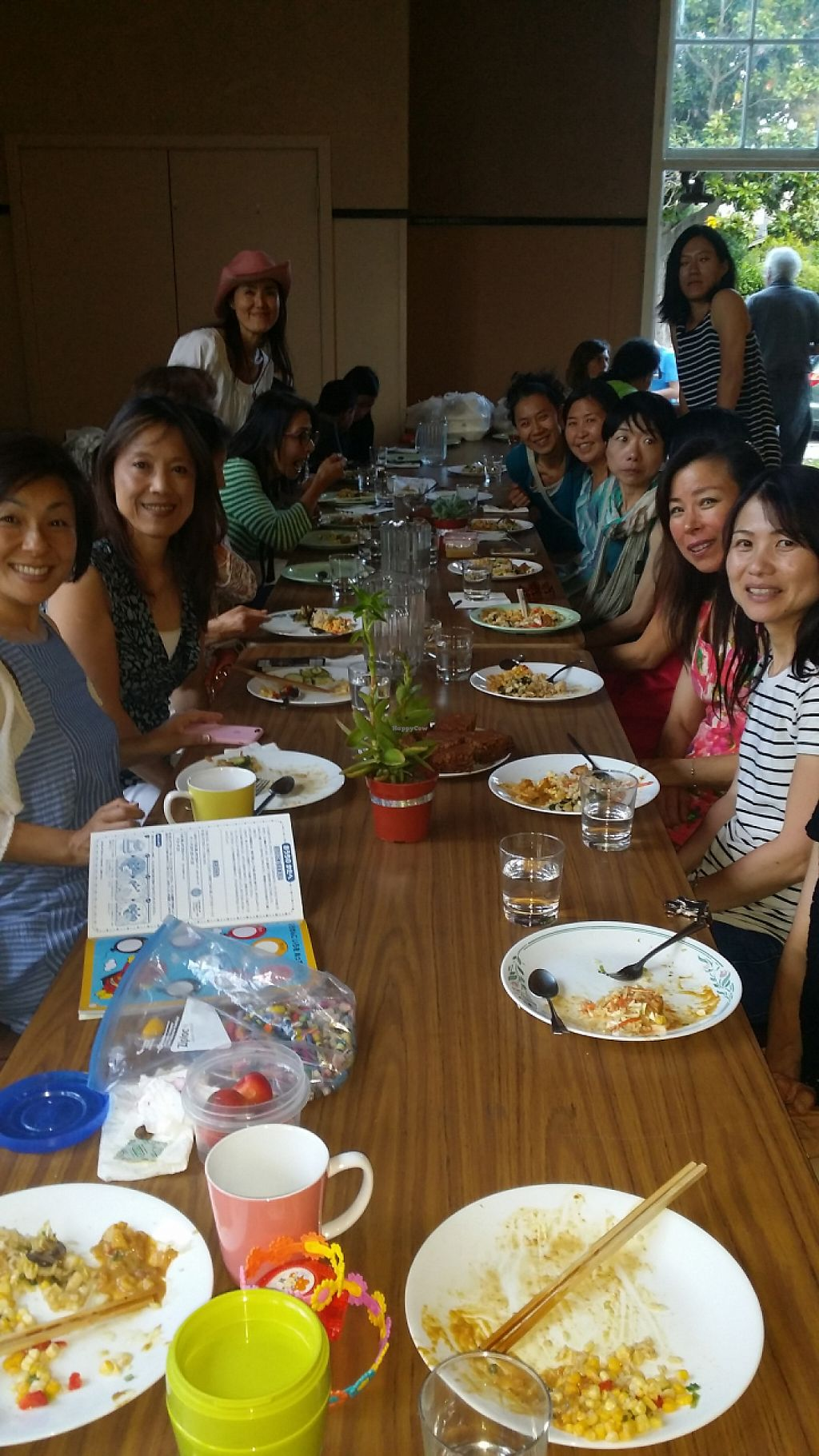 """Photo of Vegan Dinners  by <a href=""""/members/profile/PatriciaJoyBecker"""">PatriciaJoyBecker</a> <br/>Maho Osano's Macrobiotic Cooking Teacher and class dine with us.   <br/> June 28, 2016  - <a href='/contact/abuse/image/16770/188048'>Report</a>"""