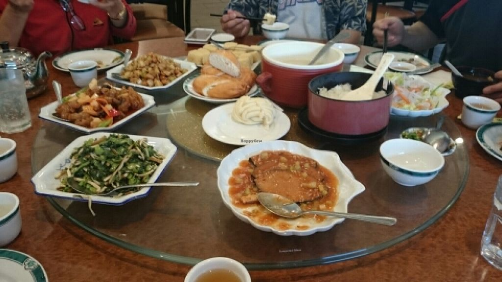 """Photo of Happy Family Vegetarian Restaurant - Rowland Heights  by <a href=""""/members/profile/Laeluxia"""">Laeluxia</a> <br/>awesome spread <br/> May 14, 2016  - <a href='/contact/abuse/image/1680/148971'>Report</a>"""