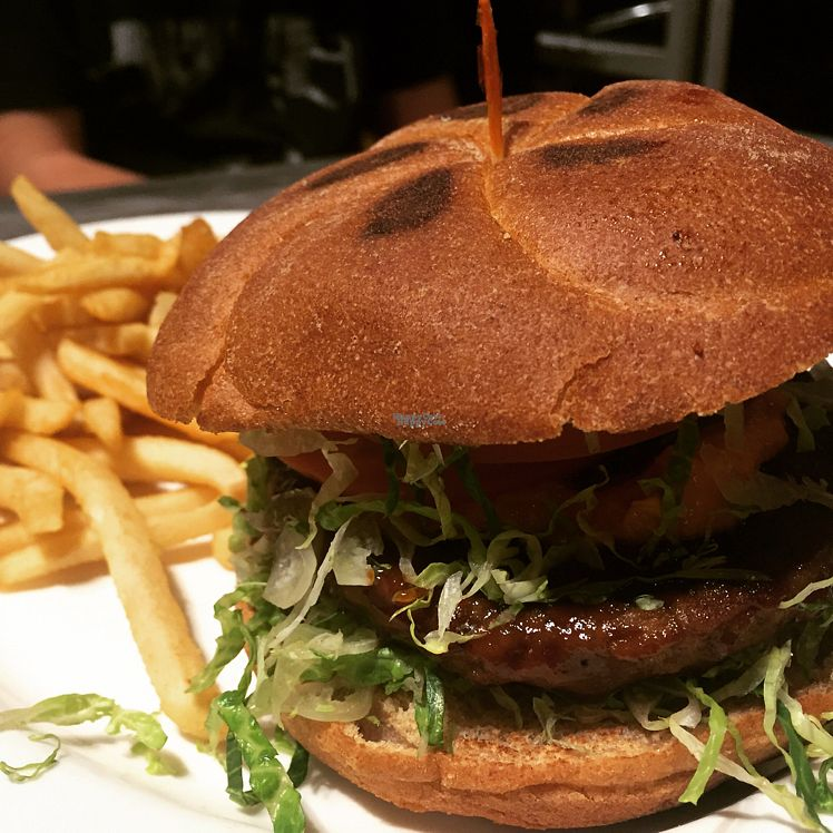 """Photo of My Vegan  by <a href=""""/members/profile/VeganCookieLover"""">VeganCookieLover</a> <br/>My Vegan Cheeseburger  <br/> October 22, 2016  - <a href='/contact/abuse/image/16814/183525'>Report</a>"""