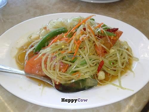 """Photo of My Vegan  by <a href=""""/members/profile/Sonja%20and%20Dirk"""">Sonja and Dirk</a> <br/>papaya salad <br/> September 8, 2013  - <a href='/contact/abuse/image/16814/54613'>Report</a>"""