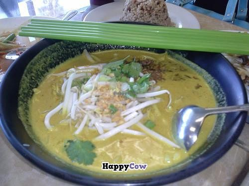 """Photo of My Vegan  by <a href=""""/members/profile/Sonja%20and%20Dirk"""">Sonja and Dirk</a> <br/>yellow curry noodle <br/> September 8, 2013  - <a href='/contact/abuse/image/16814/54615'>Report</a>"""