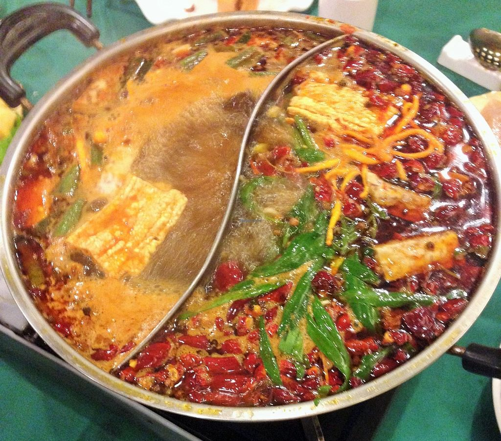 """Photo of Pure Veggie House  by <a href=""""/members/profile/Stevie"""">Stevie</a> <br/>http://www.meetup.com/Meat-Free-Hong-Kong/events/226368871/ World Vegan Day hot pot 2 <br/> November 3, 2015  - <a href='/contact/abuse/image/16829/123636'>Report</a>"""