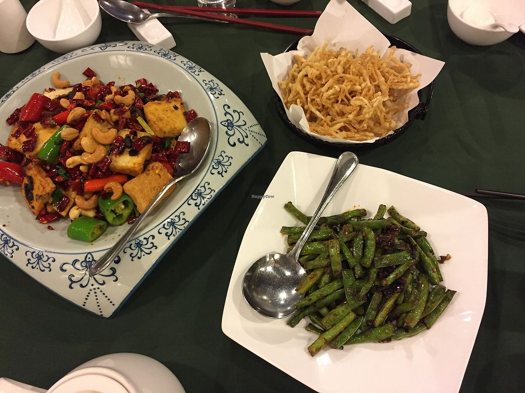 """Photo of Pure Veggie House  by <a href=""""/members/profile/Ashni"""">Ashni</a> <br/>Enoki fries, string beans, Sichuan style tofu <br/> December 9, 2017  - <a href='/contact/abuse/image/16829/333801'>Report</a>"""