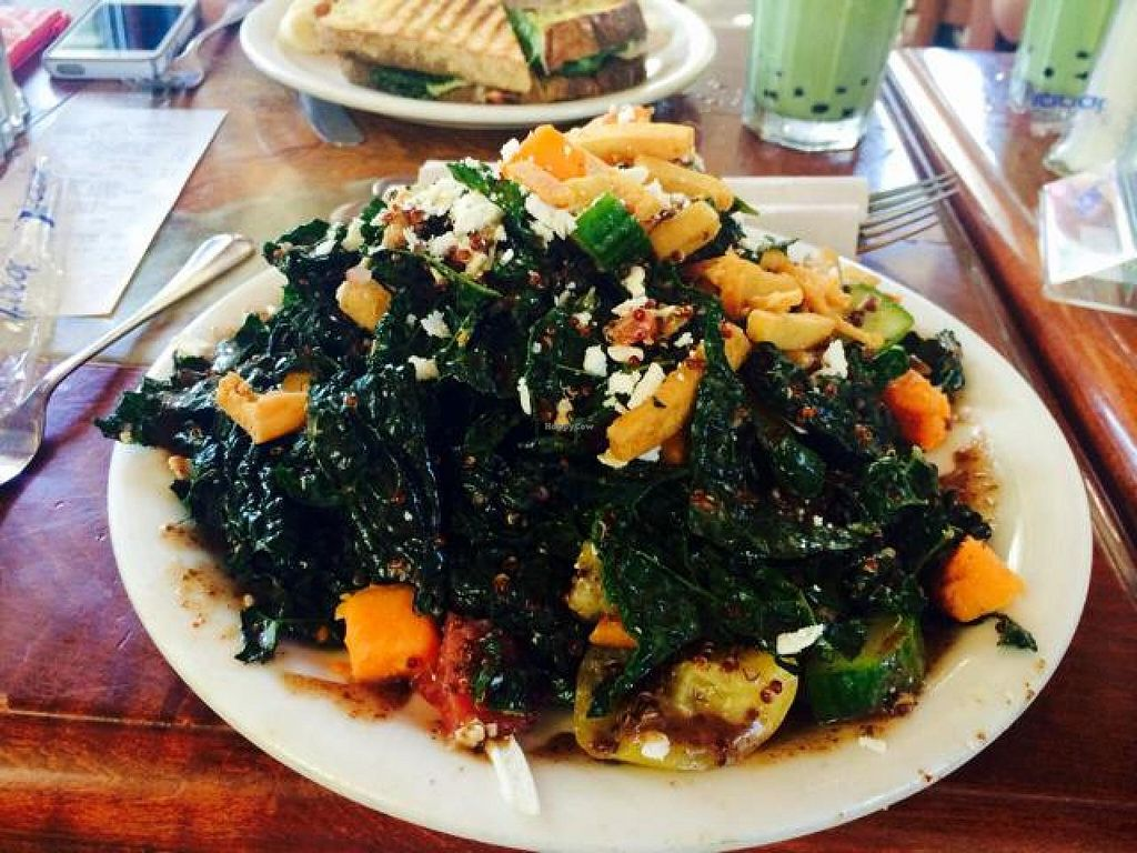 "Photo of Urth Caffe  by <a href=""/members/profile/shelbyraw"">shelbyraw</a> <br/>Tuscan Kale <br/> October 17, 2014  - <a href='/contact/abuse/image/16850/83221'>Report</a>"
