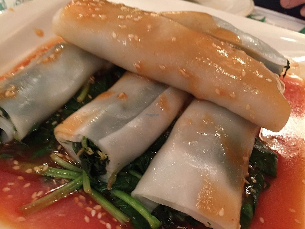 "Photo of Veggie Heaven  by <a href=""/members/profile/SavoyTruffle"">SavoyTruffle</a> <br/>Crystal spinach rolls. These were delicious <br/> March 5, 2017  - <a href='/contact/abuse/image/16898/232831'>Report</a>"