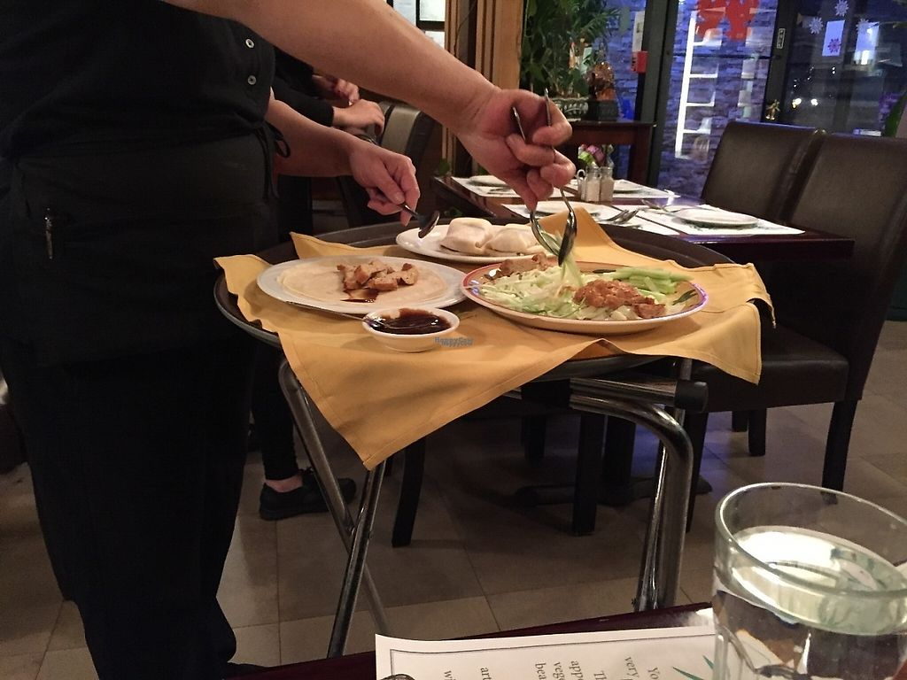 "Photo of Veggie Heaven  by <a href=""/members/profile/SavoyTruffle"">SavoyTruffle</a> <br/>They wrap your peking ""duck"" tableside. Also delicious <br/> March 5, 2017  - <a href='/contact/abuse/image/16898/232833'>Report</a>"