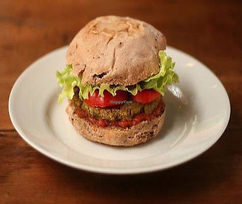 """Photo of Bonobo  by <a href=""""/members/profile/ieve"""">ieve</a> <br/>carrot and peanuts veggie burger with home made ketchup. all organic. ♥ <br/> February 11, 2010  - <a href='/contact/abuse/image/16909/315687'>Report</a>"""
