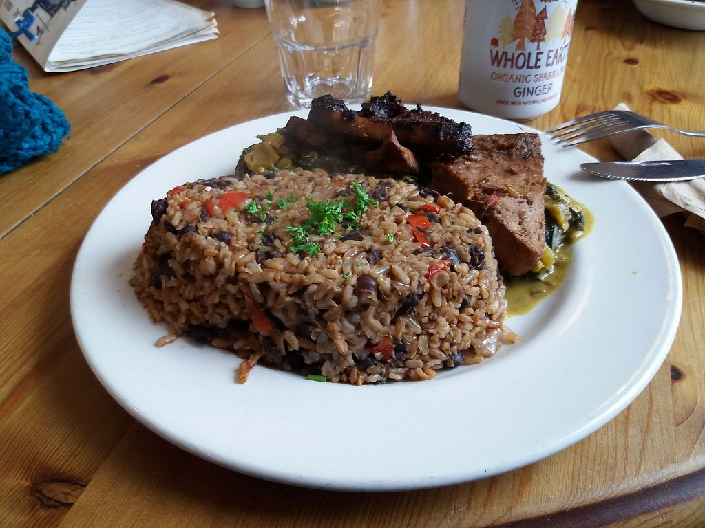 "Photo of The Treehouse Restaurant  by <a href=""/members/profile/Janina"">Janina</a> <br/>jerk tofu with rice & beans and rainbow chard <br/> October 16, 2017  - <a href='/contact/abuse/image/16950/315831'>Report</a>"