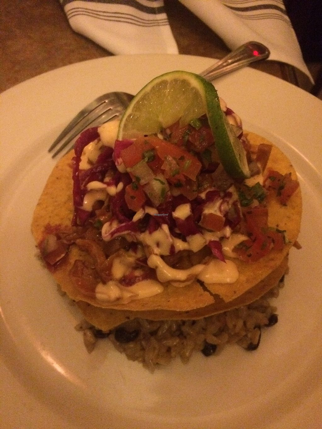 """Photo of Merge  by <a href=""""/members/profile/fruitiJulie"""">fruitiJulie</a> <br/>Tostadas with vegan cheese delicious  <br/> March 1, 2018  - <a href='/contact/abuse/image/16959/365225'>Report</a>"""