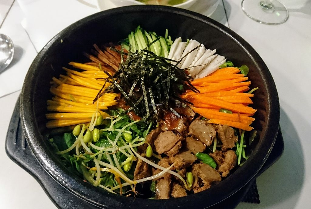 """Photo of Loving Hut - Guangfu South Rd  by <a href=""""/members/profile/V-for-Vegan"""">V-for-Vegan</a> <br/>Curry Bimbimbap <br/> March 20, 2018  - <a href='/contact/abuse/image/17062/373168'>Report</a>"""