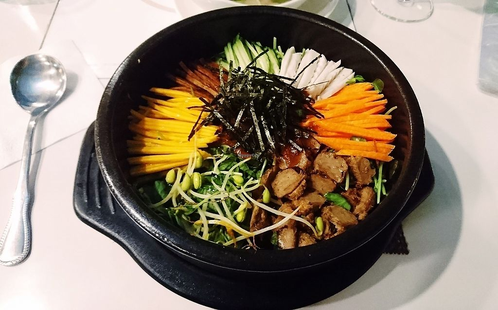 """Photo of Loving Hut - Guangfu South Rd  by <a href=""""/members/profile/V-for-Vegan"""">V-for-Vegan</a> <br/>Curry Bimbimbap <br/> March 24, 2018  - <a href='/contact/abuse/image/17062/375153'>Report</a>"""