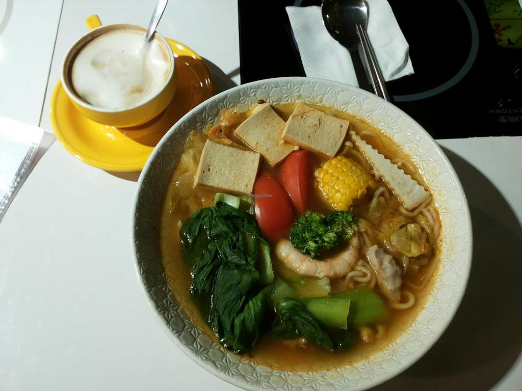 """Photo of Loving Hut - Guangfu South Rd  by <a href=""""/members/profile/peas-full"""">peas-full</a> <br/>spicy sichuan noodle soup <br/> December 9, 2014  - <a href='/contact/abuse/image/17062/87522'>Report</a>"""