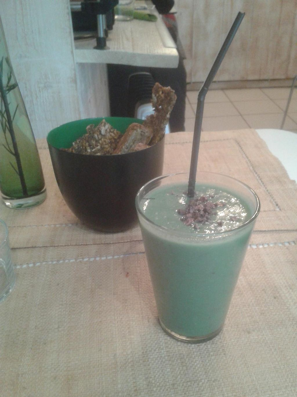 """Photo of CLOSED: Pousse-Pousse  by <a href=""""/members/profile/JonJon"""">JonJon</a> <br/>Banana and spirulina smoothie <br/> January 15, 2014  - <a href='/contact/abuse/image/17084/62567'>Report</a>"""