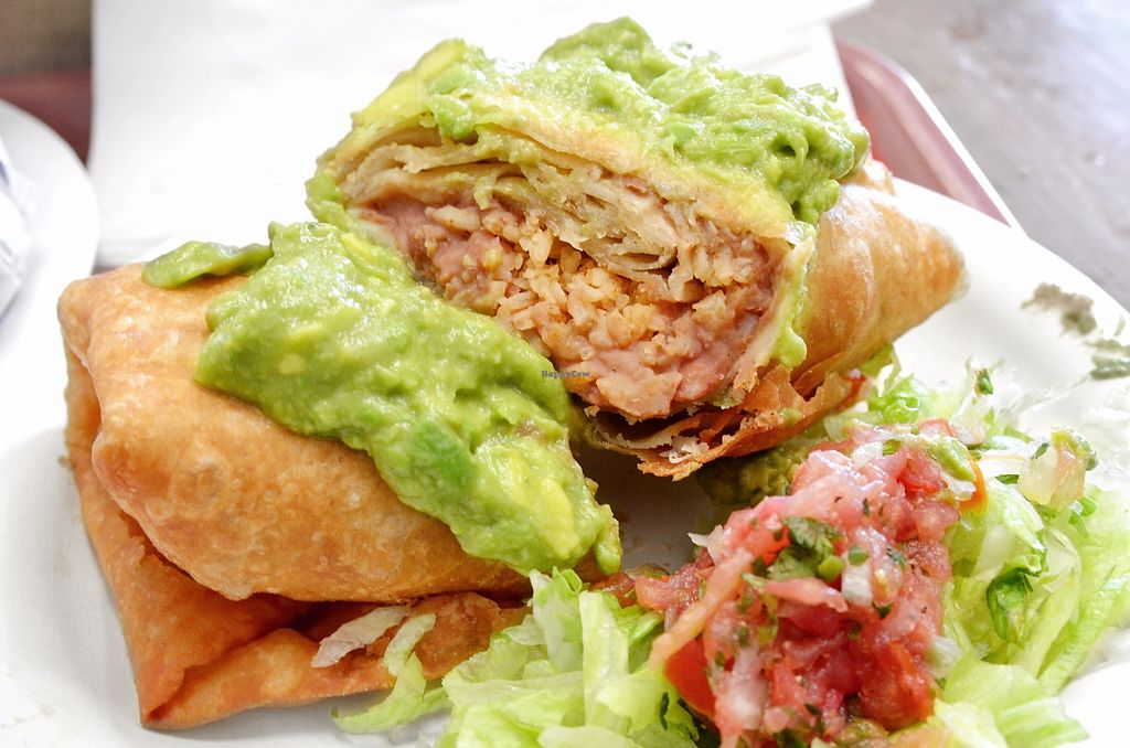 """Photo of Don Carlos Taco Shop  by <a href=""""/members/profile/KellyBone"""">KellyBone</a> <br/>Vegan Chimichanga <br/> November 24, 2017  - <a href='/contact/abuse/image/17106/328766'>Report</a>"""